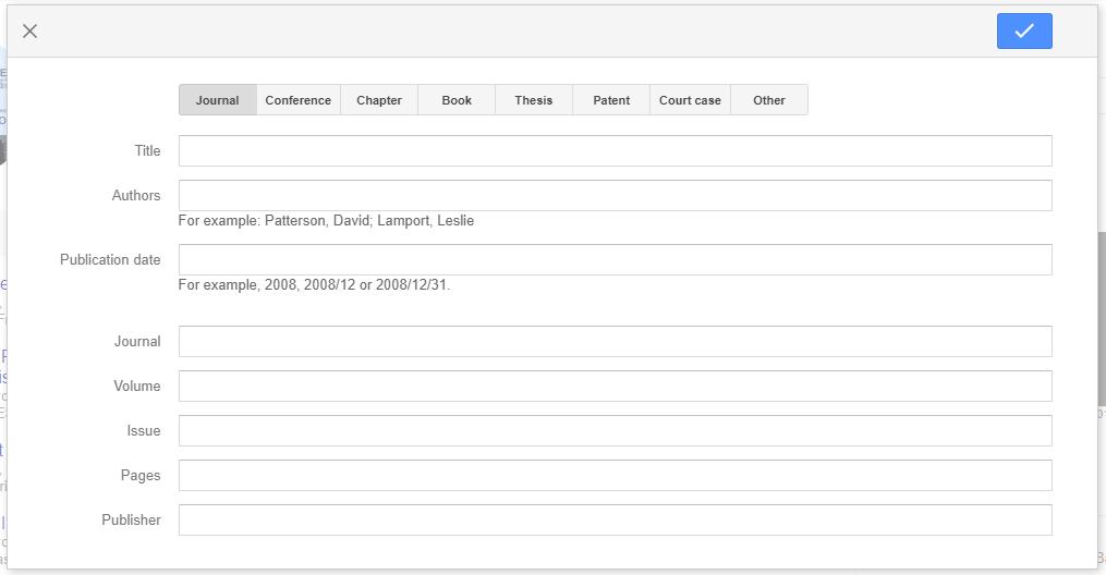 Tambah Artikel Groups Google Scholar